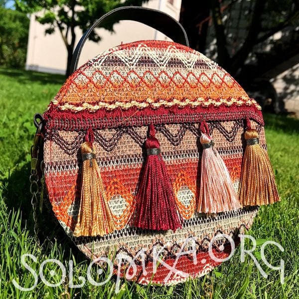 Handmade bag in retro ethnic style