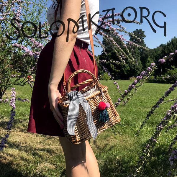 Пляжная сумка-корзинка из ротанга