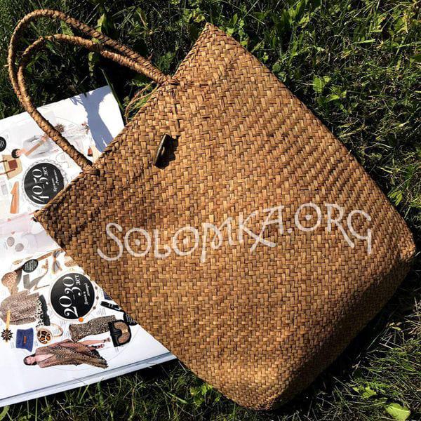 Плетена солом'яна сумка шоппер