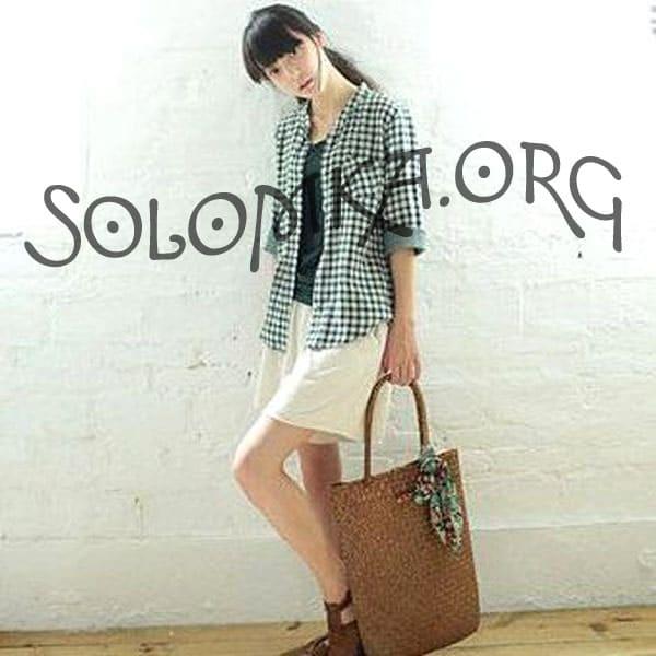 Плетеная соломенная сумка шоппер