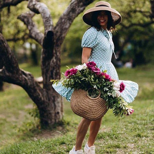 Большая женская сумка из водяной лилии