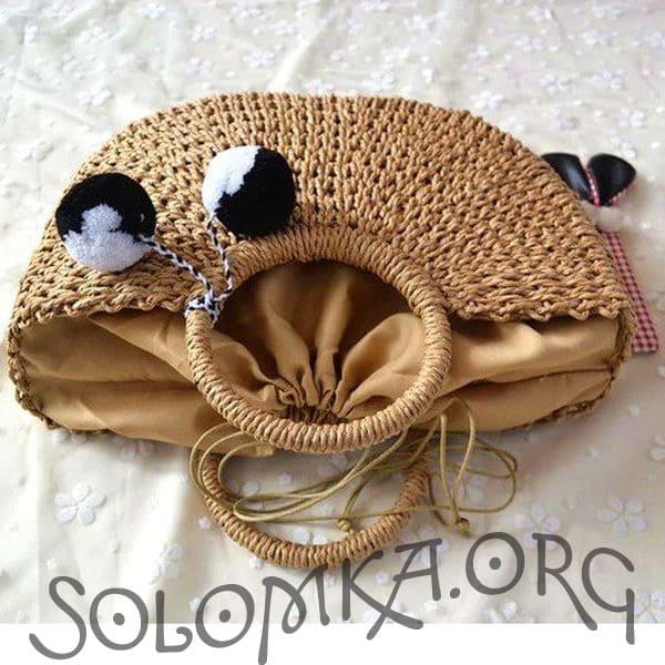 Женская сумочка из водяной лилии