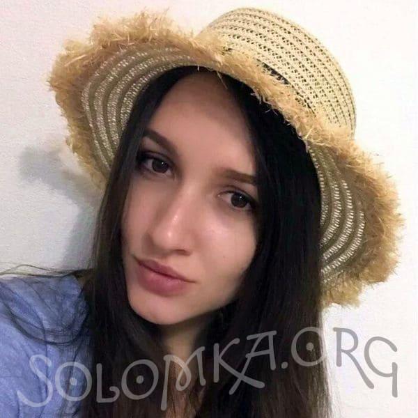 Солом'яний капелюшок канотьє з бахромою