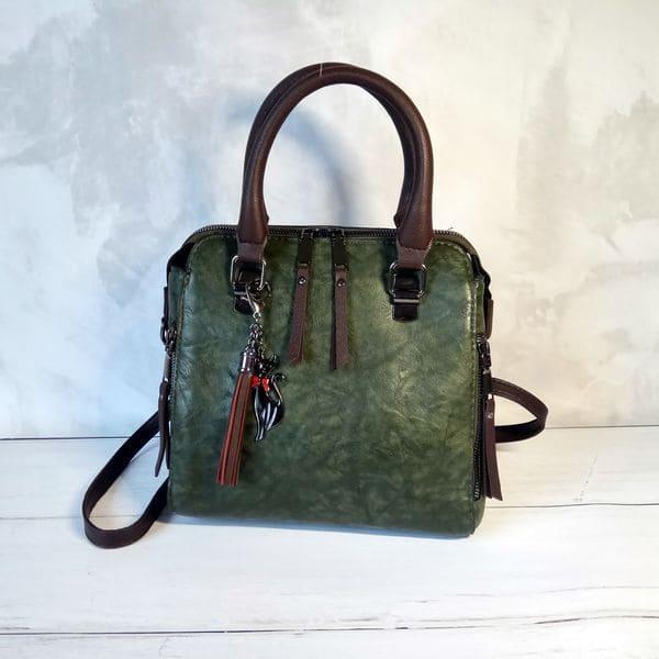 Дизайнерская женская сумка винтаж из экокожи