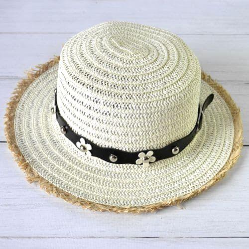 Летняя шляпа с бахромой и ремешком