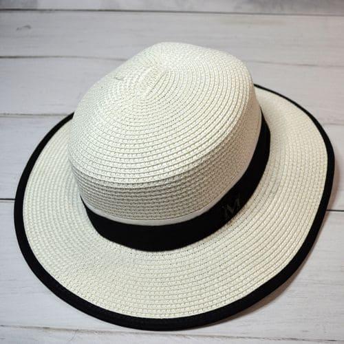 Женская летняя шляпа с лентой