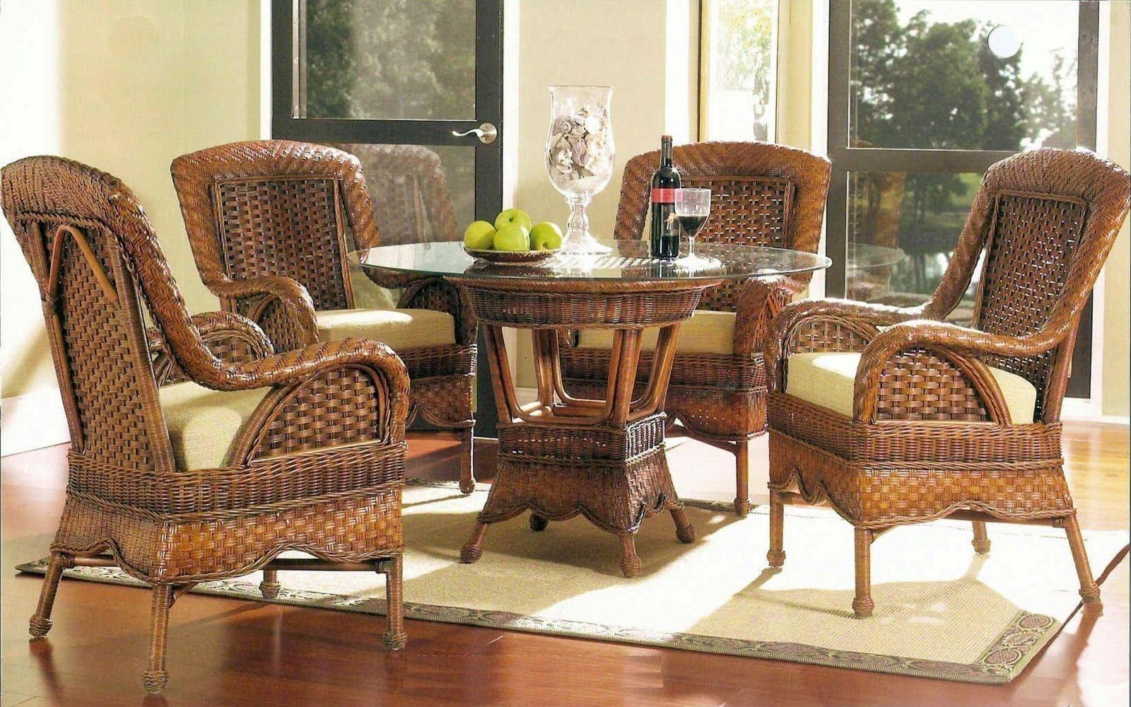 плетені меблі ротанг, ротангові меблі в інтер'єрі