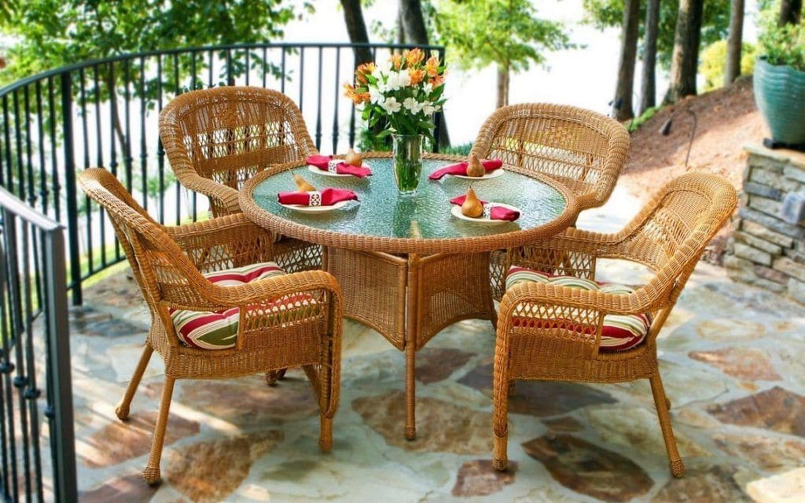 плетеная мебель из ротанга, ротанговая мебель для дачи