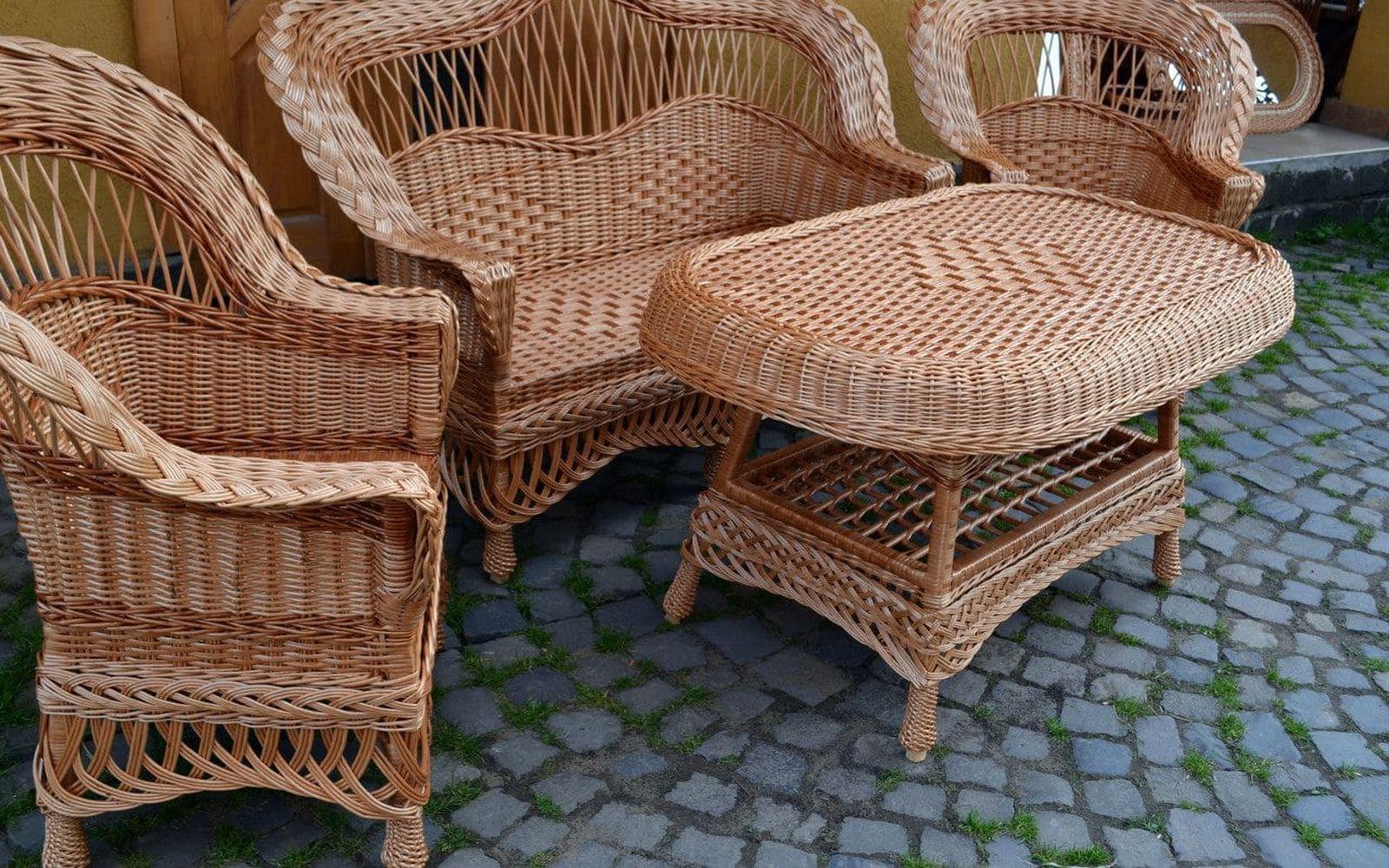 плетіння меблів з лози, плетені меблі картинки