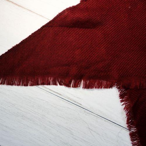Шарфик плед треугольный красный