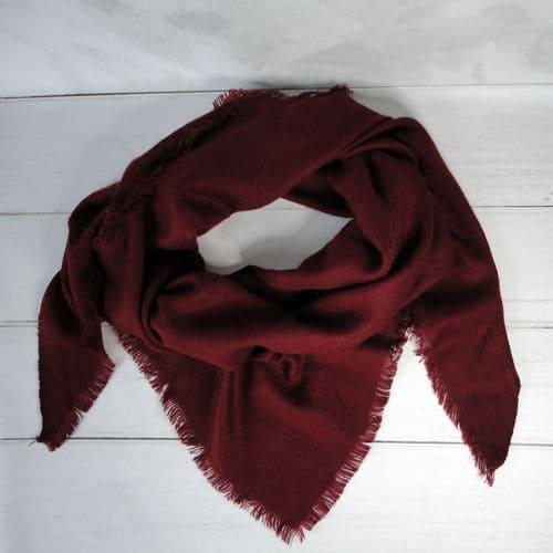 Шарфик плед трикутний червоний