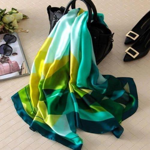 Роскошный женский шелковый шарфик шаль 180x90 см