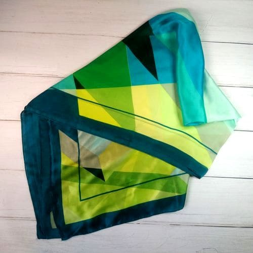 Роскошный женский шелковый шарфик шаль