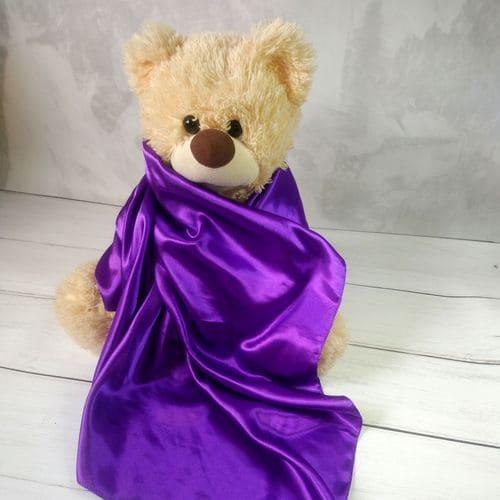 Шовковий квадратний шарфик жіночий фіолетовий