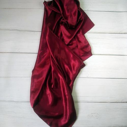 Квадратный шелковый шарф женский красный 90x90 см